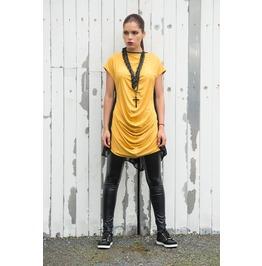 Black Mustard Top / Kaftan / Loose Tunic / Short Sleeve Top