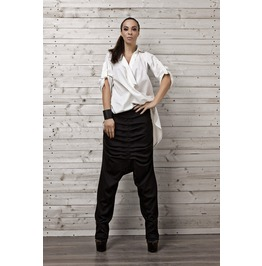 Cotton Shirt/ Shirt Belt /Asymmetric Top / Tunic