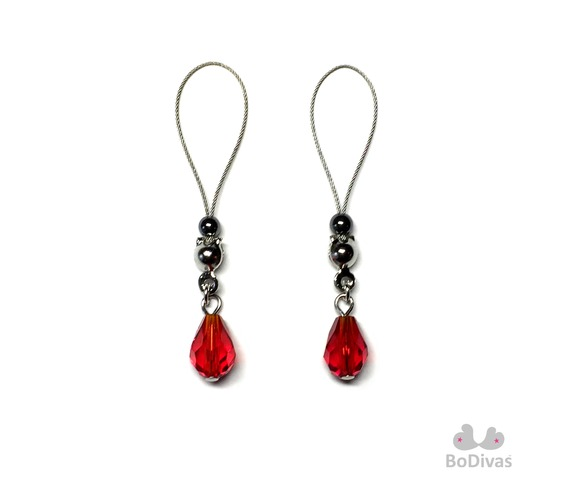 nipple_noose_stainless_red_crystal_teardrop_hematite_stopper_ball_nipple_rings_4.jpg