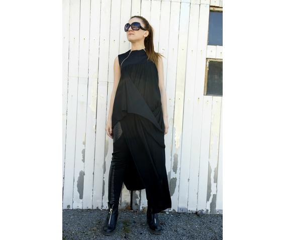 long_asymmetrical_tunic_draped_tunic_zipper_dress_black_dress_dresses_5.jpg