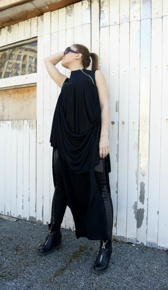 long_asymmetrical_tunic_draped_tunic_zipper_dress_black_dress_dresses_4.jpg