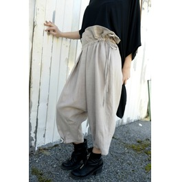 Beige Woman Pants / Linen Pants / Draped Trousers / Loose Pants / Wide Leg