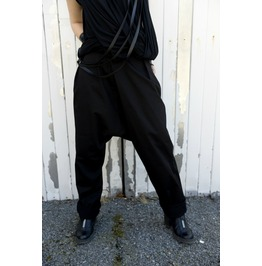 Loose Black Pants/ Drop Crotch Pants/ Black Oversize Trousers/ Black Pants