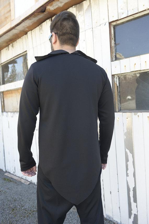 men_black_top_extravagant_blouse_asymmetrical_tunic_collar_black_tunic_tank_tops_5.jpg