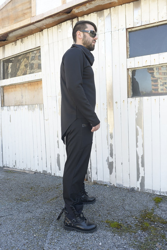 men_black_top_extravagant_blouse_asymmetrical_tunic_collar_black_tunic_tank_tops_4.jpg