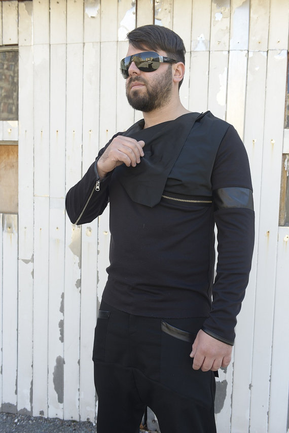 men_tunic_with_collar_black_blouse_long_sleeve_tunic_leather_design_tank_tops_5.jpg