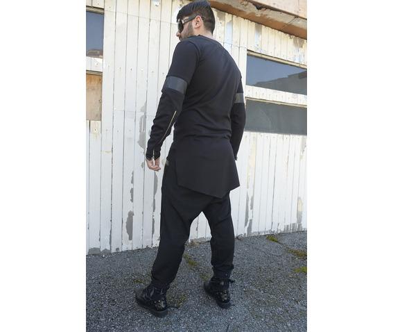 men_tunic_with_collar_black_blouse_long_sleeve_tunic_leather_design_tank_tops_4.jpg