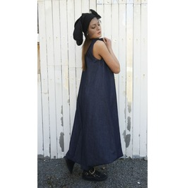 Denim Long Dress/ Blue Jean Dress/ Kaftan/ Oversize Dress/ Long Tunic
