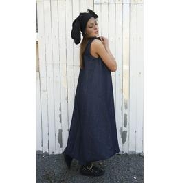 Denim Long Dress/ Blue Jean Dress/ Kaftan/ Oversize Dress/ Long Tunic
