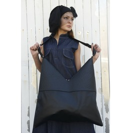 Genuin Leather Bag / Shoulder Bag / Ostrich Bag / Extravagant Oversiz