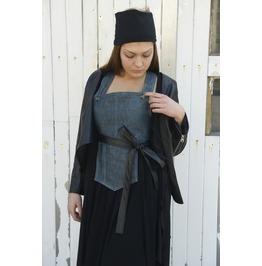 Eco Leather Jacket/ Black Woman Jacket/ Extravagant Top/ Asymmetrical Black