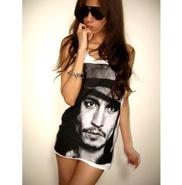 Johnny Depp Movie Star Icon Tank Top