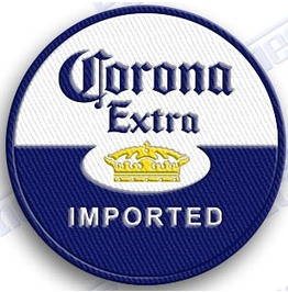Corona Extra Beer Iron On 100% Embroidered Patches Patch 2 X 2 Mexico Lime