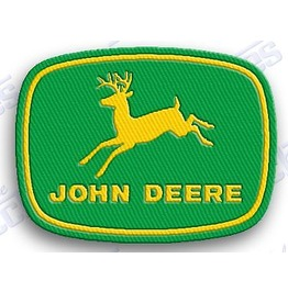 "John Deere Iron On Embroidered Patch Patches 2 X 2"" Farming Farm Rednec K"