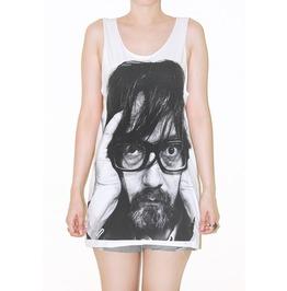 Jarvis Cocker White Rock Tank Top Music Shirt Size S