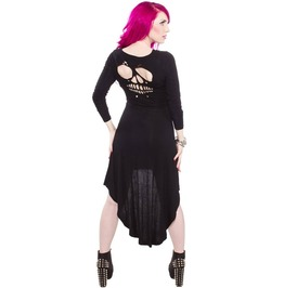 Sourpuss Skull Cut High/Low Dress
