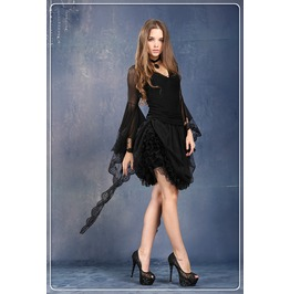 Multi Wear Long Dark Gothic Skirt Kw056
