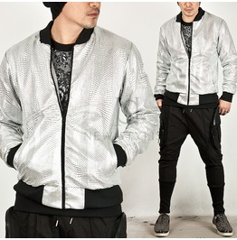 Comb Pattern Silver Jersey Jacket 137