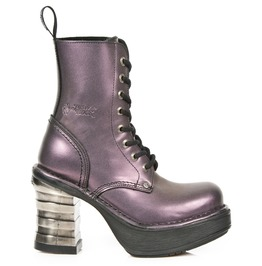 New Rock Goth Boots High Quality Purple Leather Neo Punk Boot 8354