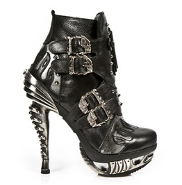 M.Mag005 S1 New Rock High Quality Leather High Heel Ankle Boot $26 To Ship