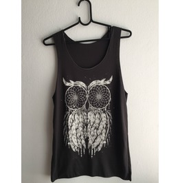 Owl Feather Pretty Night Fashion Vest Tank Top