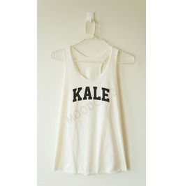 Kale Tshirt Funny Shirt Text Tshirt Racer Back Tank Women Shirt