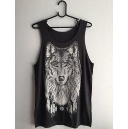 Fox Wolf Wild Animal Pop Rock Fashion Vest Tank Top