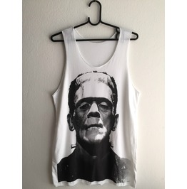 Frankenstein Fashion Pop Indie Unisex Vest Tank Top