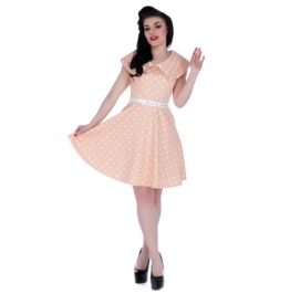 Voodoo Vixen Women's Milkshake Pin Pink Spotted 50s Day Dress