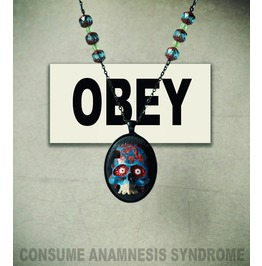 "Geek & Goth Pendant Necklace ""The Invaders"", Uranium & Czech Glass Beads"