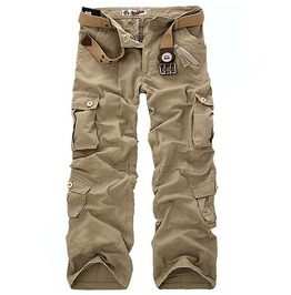 Mens 5 Colors Multi Pocket Cargo Pants