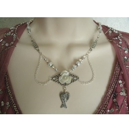 Wing Necklace, Goth Rockabilly Steampunk Renaissance Medieval