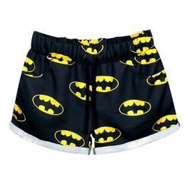 Batty Bat Design Print Shorts