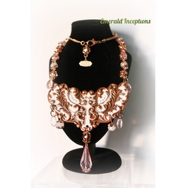 Rose Fatale, Pink & Light Copper Necklace