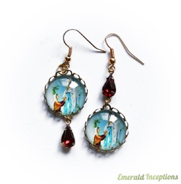 Holy Mary Lourdes Earrings