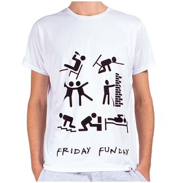 Friday Funday Men's Printed Thermoactive T Shirt Gagaboo