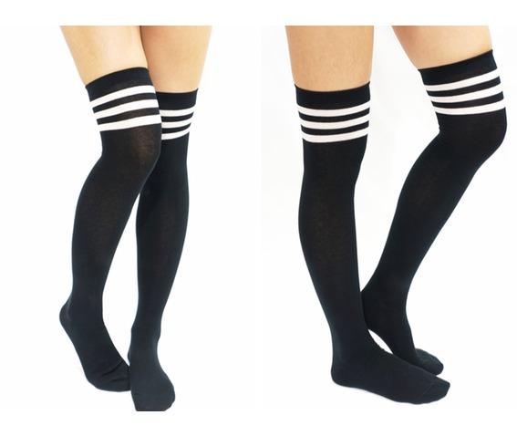 jk_white_stripe_cotton_thigh_high_socks_black_socks_3.jpg