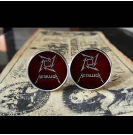 Metallica Star (Burgundy/Red) Logo Cuff Links Men, Weddings,Grooms