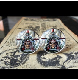Iron Maiden Eddie Aces High Logo Cuff Links Men, Weddings,Groomsme, Grooms