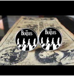 Beatles Abbey Road Silhouettes Logo Cuff Links Men, Weddings,Grooms,Grooms