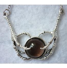 Dragon Stone Necklace Smoked Quartz Claws Game Thrones Daenerys