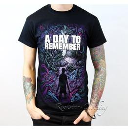 Day Remember Homesick Crew Neck Short Sleeve Mens Black Cotton T Shirt