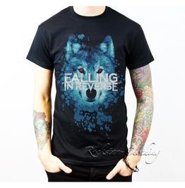 Falling Reverse Wolf Short Sleeve Men Black Cotton T Shirt
