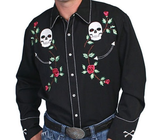 scully_western_skull_and_floral_embroidery_on_black_cowboy_pearl_snap_shirt_shirts_4.jpg