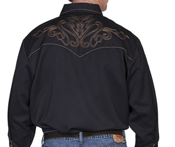 scully_western_brown_bootstitch_embroidery_on_black_cowboy_pearl_snap_shirt_shirts_4.jpg
