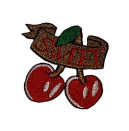 "Patch Iron ""Sweet Cherries"" L / W: 7 Cm / 7 Cm 2.76 / 2.76 Inch"