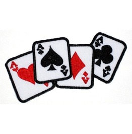 "Patch Iron ""Hand"" 5,5 Cm / 11 Cm 2.1 Inch / 4.25 Inch Poker Player"