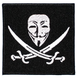 "Patch Iron ""Guy Fawkes"" 8cm/8cm 3.35 Inch/3.35 Inch Occupy Anonymous"