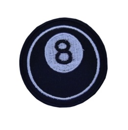 "Patch Iron ""8 Ball"" 3.35 Inch / 3.35 Inch Rockabilly Greaser Billiard"