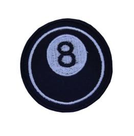 "Patch Iron ""8 Ball"" 3.35 Inch / 3.35 Inch Rockabilly Greaser Billiard"